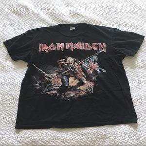 ba124e32 Urban Outfitters Tops | Vintage Iron Maiden Oversized Tee | Poshmark